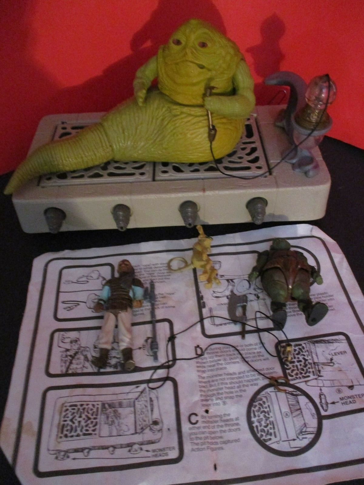 Star Wars Vintage Jabba's Thrown Instruc 1980 Kenner Action Figures  Collection