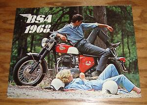 Image Is Loading Original 1968 BSA Motorcycle Full Line Sales Brochure