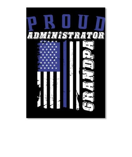 Portrait Details about  /Proud Administrator Grandpa T Sticker