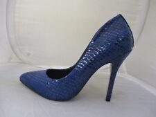 STEVE MADDEN BLUE SNAKE  LADIES HEELS UK 3.5 US 6 EURO 36  REF 6272*