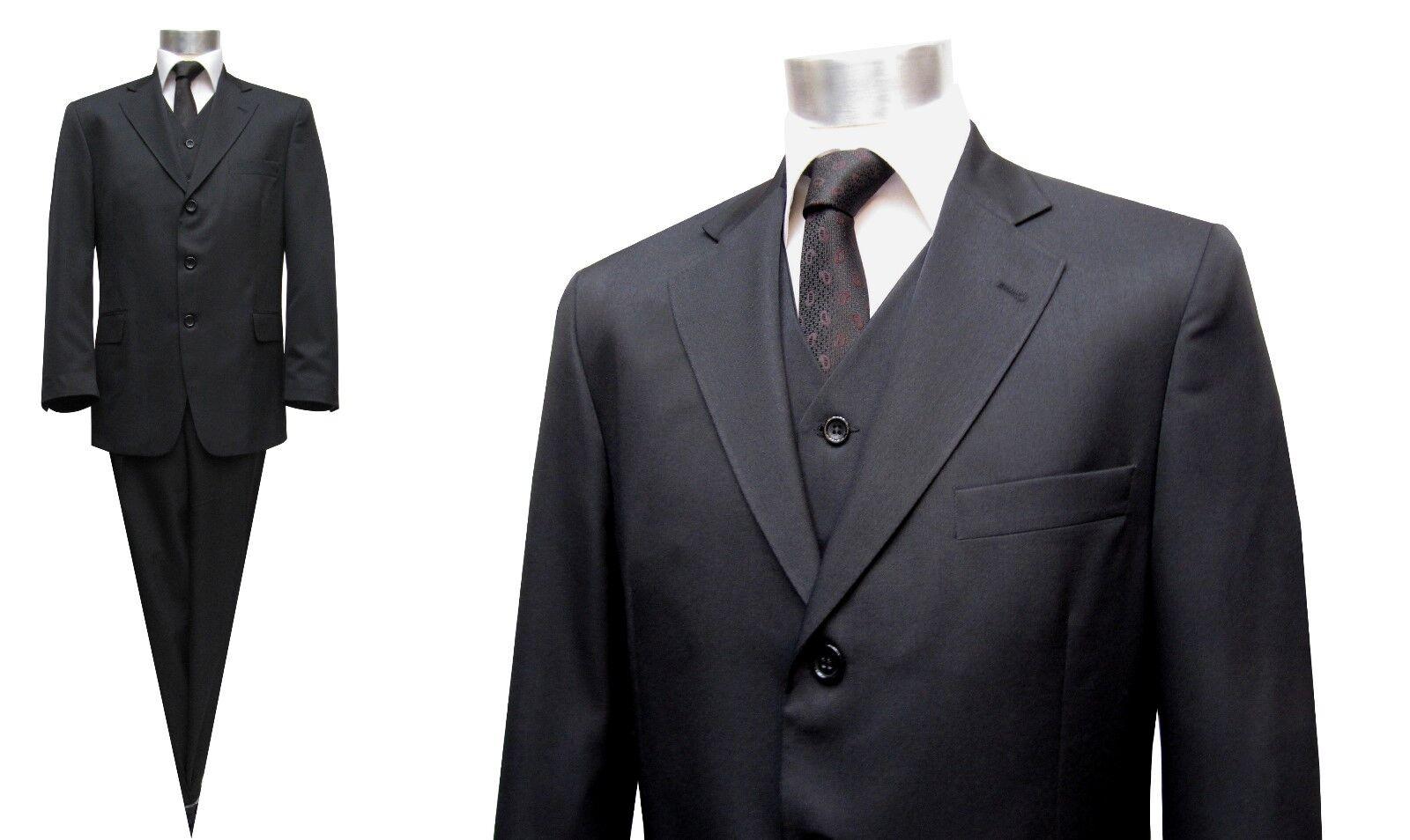 Muga Herren Anzug 3 teilig Gr.31 Schwarz