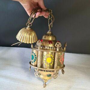 💡 Turque lampe, suspension lanterne avec cabochon éclairage marocain vintage