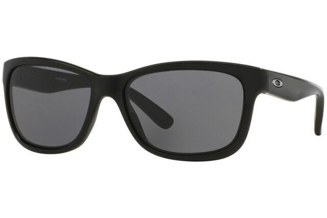 c52b70df6e4e Oakley Sunglasses Women's OO9179-01 FOREHAND Polished Black Frame w/ Grey  Lenses