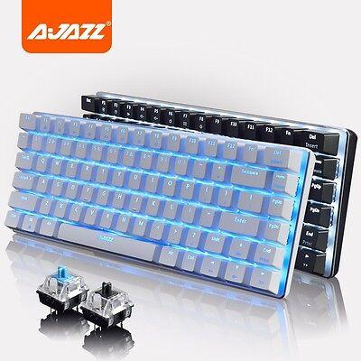 Ajazz Geek AK33 82 Key Backlit Wired Mechanical Gaming Keyboard for PC/Laptop