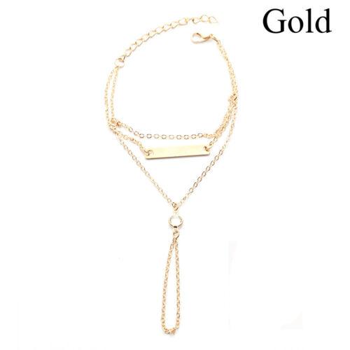 """/"""" la chaîne à main crystal les femmes plage des bijoux doigt bracelet bracelet"""
