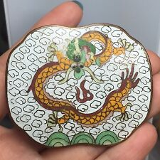Vintage Cloisonne Enamel Asian Motif Dragon Belt Buckle Chinese Export  J-86