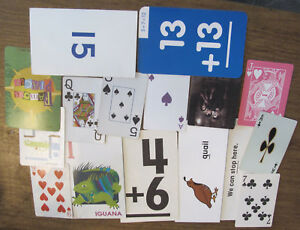 Mixed Lot Of 16 Playing/learning Cards For Ephemera Junk Journals Mixed Media