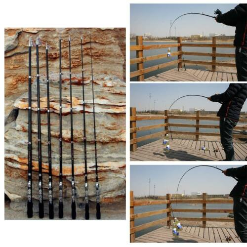 Carbon Fiber Telescopic Pocket Fishing Rod Travel Spinning Pole