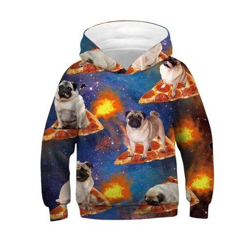 3D Print Hoodie Coat Boy Girl Jacket Kids Animal Sweatshirt Pullover Jumper Tops