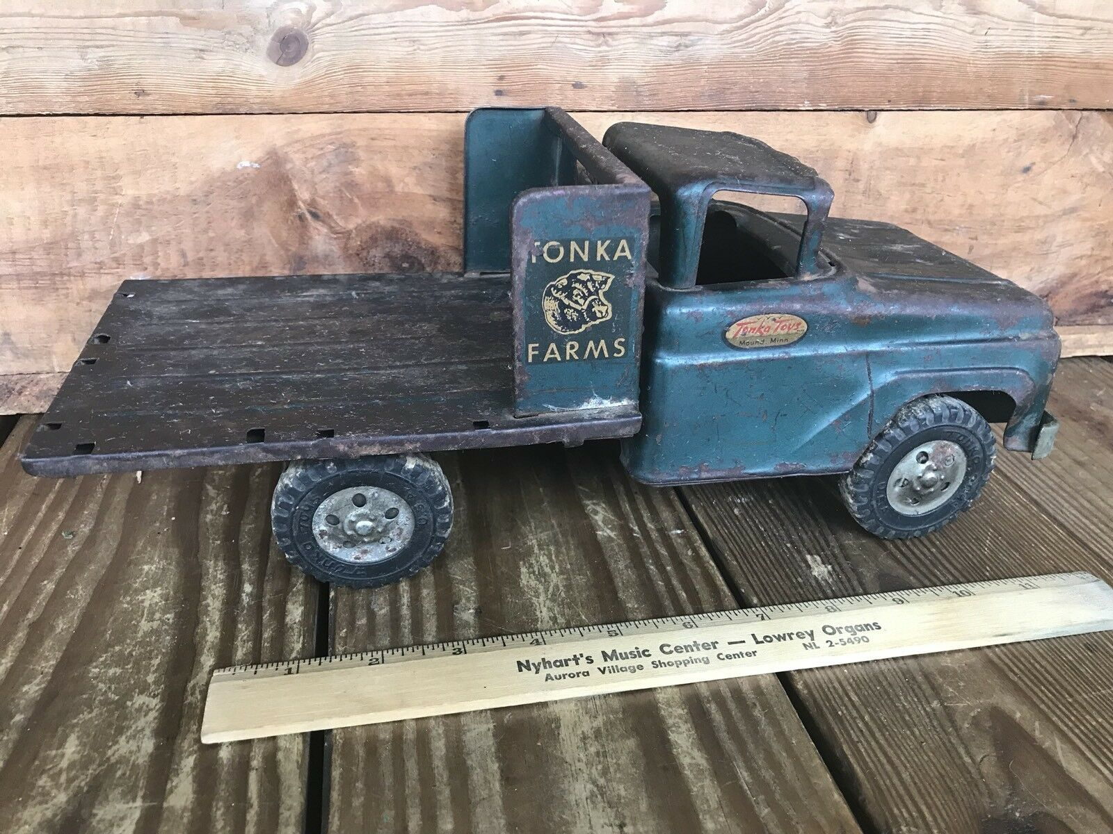 Vintage 1956-57 Tonka Camión Tonka granjas de ganado Camión Azul