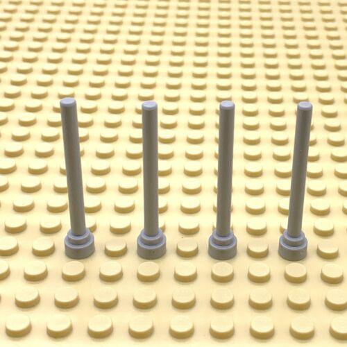 Lego 4211473 Antena//Antena//asta de la bandera//pistola barril de luz gris X4 piezas 3957