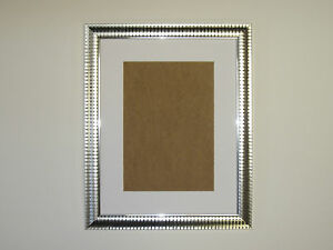 Two Tone Silver 10x12 Picture Photo Frame Mount 775x975 Hang Ebay