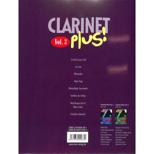 Klarinette Noten mit Playback-CD 3 Musiknoten Clarinet Plus