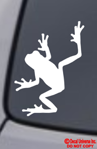FROG-Vinyl-Decal-Sticker-Car-Window-Wall-Bumper-Tree-Amphibian-Funny-Cute-Animal