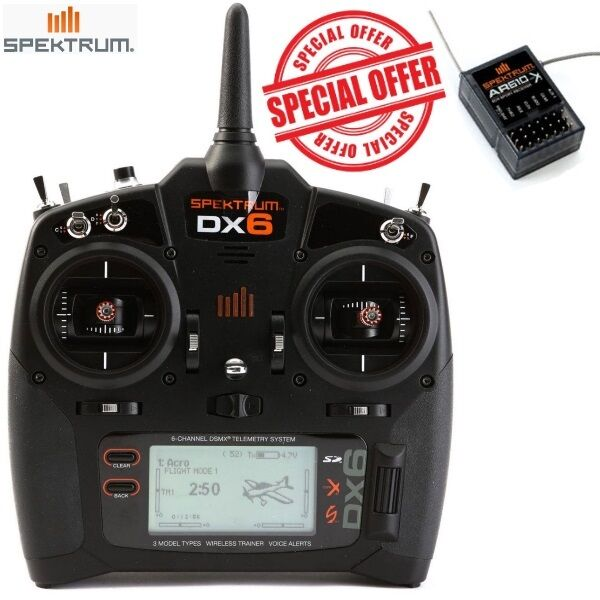 Spektrum DX6 6-Channel 6CH 6CH 6CH DSMX Transmitter Mode 2 SPMR6700 FREE Receiver AR610 5d5bf6