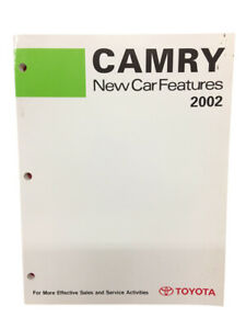 Toyota New Training Manual Car Features 2002 Book Camry Models