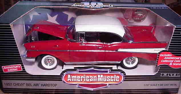 1957 Chevrolet Belair Rojo 1 18 Ertl American Muscle 32917 32917 32917 fa4156