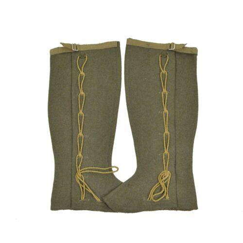 Genuine italian army Gaiters Wool OD olive hiking military surplus combat