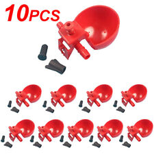 10x Poultryquail Water Drinking Cups Chicken Hen Plastic Automatic Drinker Us