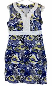 Regatta-Womens-White-Floral-Sleeveless-Lined-Dress-Size-12