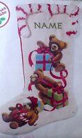 Sunset Crewel Stitchery Holiday Stocking Kit,jingles Loves Christmas,18,2001