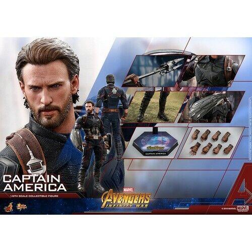 MMS480 HOT TOYS 1 6 Vengadores 3 Infinity Guerra capitán América Figura Chris Evans