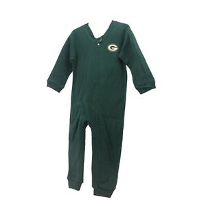 7a4e48049aa4 Green Bay Packers Official NFL Infant Toddler Size Pajama Sleeper ...