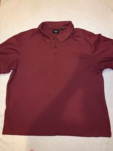 Haggar-Polo-Men-s-Size-XXL-Red-Pre-Owned-63-Cotton-37-Polyester
