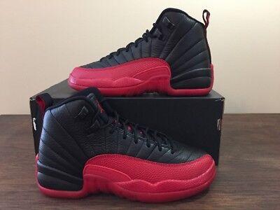 huge discount b199d 69770 Nike Air Jordan Retro 12 Gs Flu Game Black Red Bred SZ 5Y (153265-002)    eBay