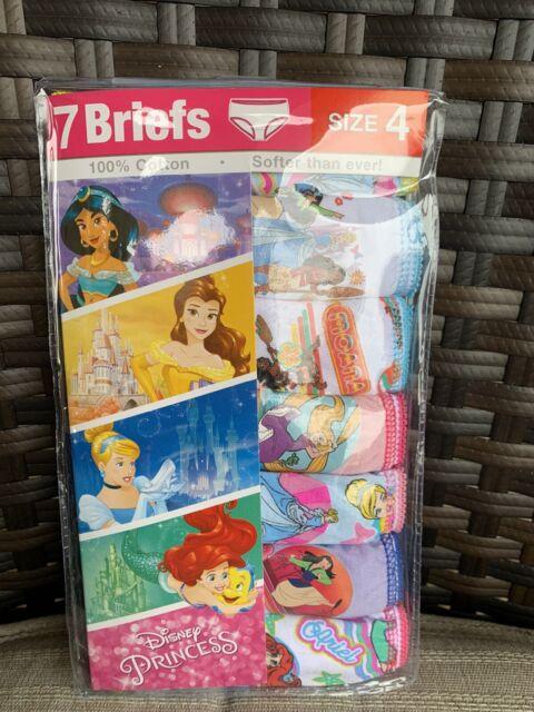 SOFIA DC MC PRINCESS DISNEY SZ 8 PACK 7 BRIEF PANTIES UNDERWEAR GIRLS