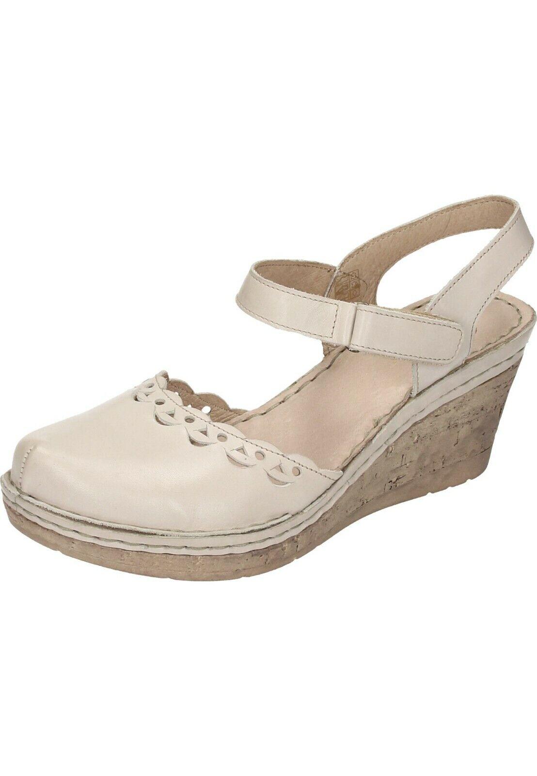 Manitu Sandales Cuir femmes chaussures Avec Talon Compense 35-42 910778 -8 Offblanc neu29