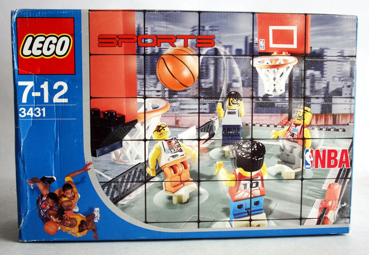 RARE 2003 LEGO 3431 SPORTS BASKETBALL NBA STREETBAL 2 VS 2 NEW SEALED MISB