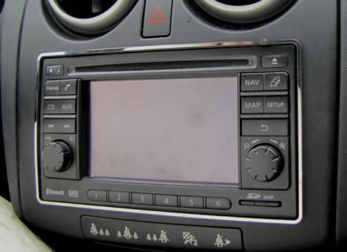 Edelstahl poliert D Nissan Qashqai Chrom Rahmen für Radio