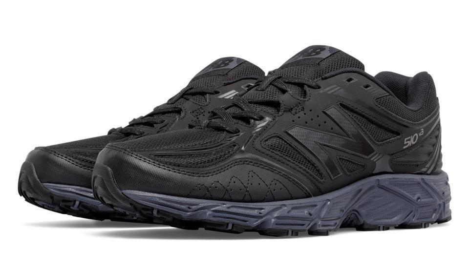 NIB New Balance 510 510v3 Men's Trail  Running Shoes 4E WIDE Black