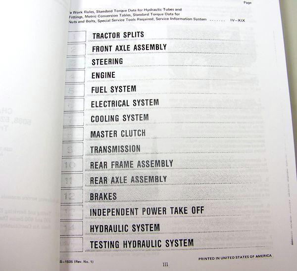 Set International 5088 5288 5488 Tractor Service Manuals Technical Rhebay: International Wiring Diagrams 5488 At Cicentre.net