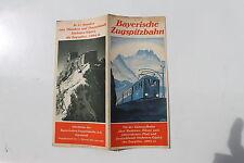 23470 Reise Prospekt Bayerische Zugspitzbahn Zugspitze Bayern Garmisch um 1935