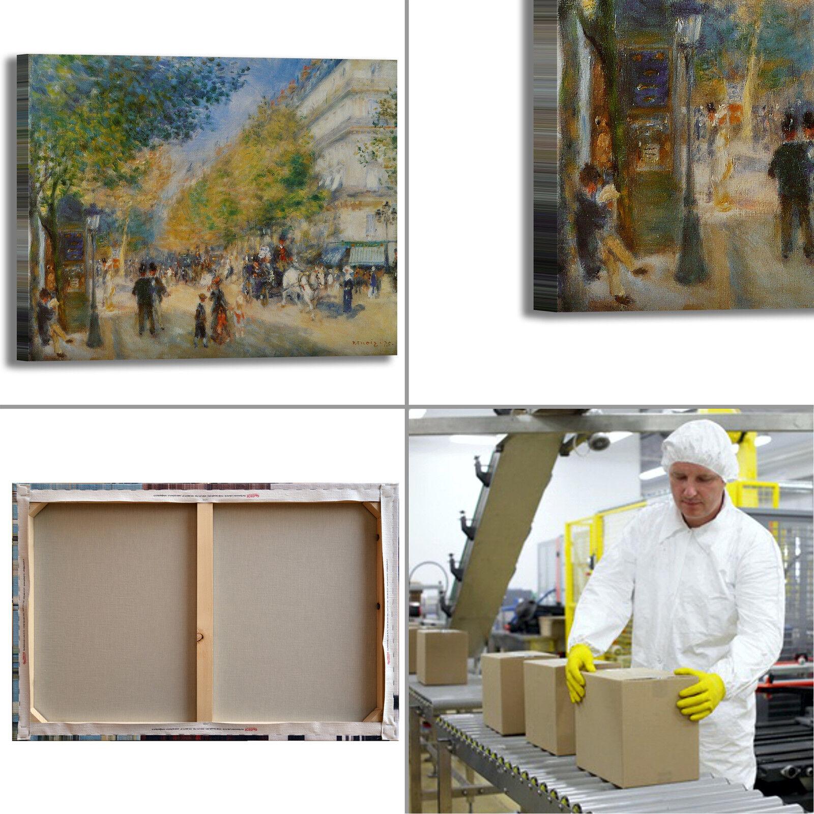 Renoir grands boulevards design quadro quadro quadro stampa tela dipinto telaio arRouge o casa 603e50