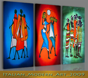 QUADRI ETNICI MODERNI TRADIZIONI AFRICANE STAMPA SU TELA 130x90 | eBay
