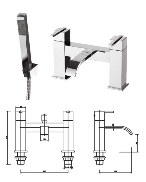 Bathroom Taps Cloakroom Modern Traditional Waterfall Chrome Bath Shower Filler