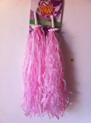 BICYCLE GRIPS STREAMERS POM POM PINK BIKES