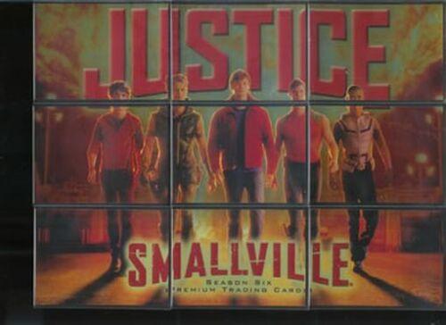 Smallville Season 6 Justice Chase Card Puzzle Set J1-J9