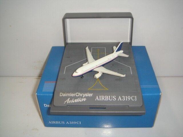Herpa Wings 500 Daimler Chrysler Chrysler Chrysler Aviation Airbus A319-100 XCJ 1 500 Boxset OG 6a3613