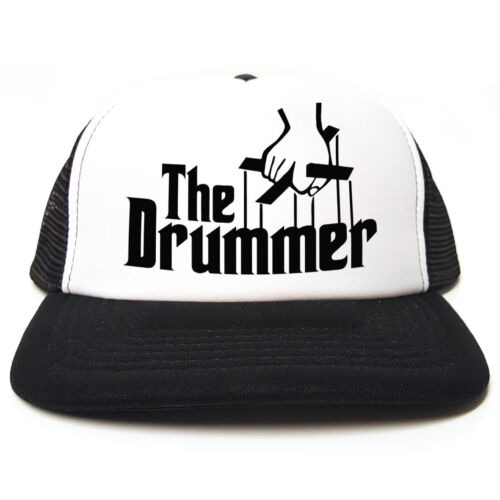 Snapback 3 Colours Funny Retro Trucker Cap The Drummer Godfather Spoof
