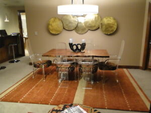 Details about Mid-Century Modern  Set Of (6) Armed Lucite (Ghost) Chairs   Circa 1970s