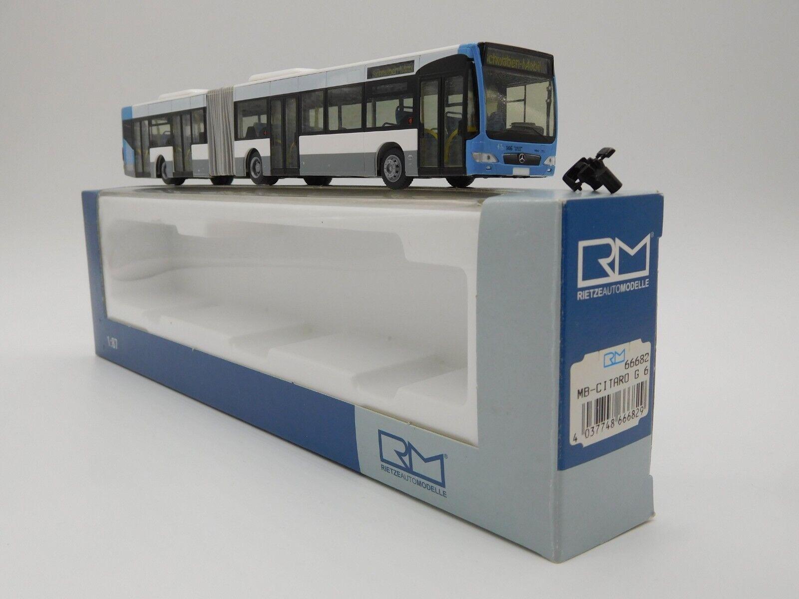 Rietze 66682 Bus O 530 Citaro FL G SWU Ulm  Schwabenmobil   | Haltbar
