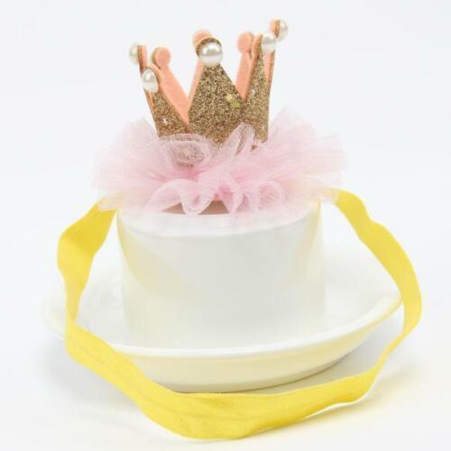 Toddler Baby Girls Head Accessories Hair Band Baby Elastic Flower Crown Headwear