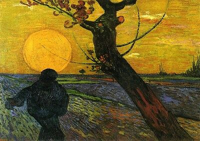 Fine Art Print//Poster Sower with Setting Sun Vincent Van Gogh 1532