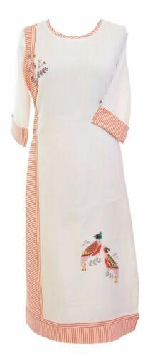 Women Casual Indian  Cotton Long Kurti Tunic Kurta Tank Top Shirt Dress K200