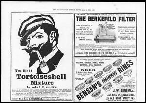 1899-Antique-Print-Advertisement-Tortoiseshell-Tobacco-Berkefeld-Filter-28
