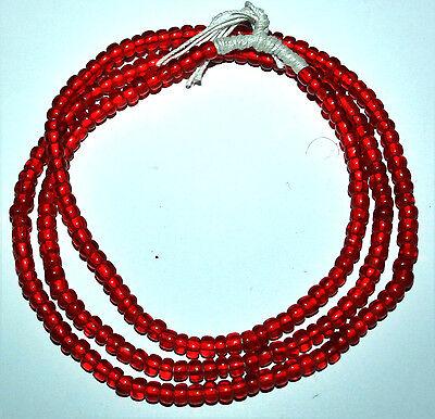 Strang antik grüne Muarano trade beads Venezianische Glasperlen